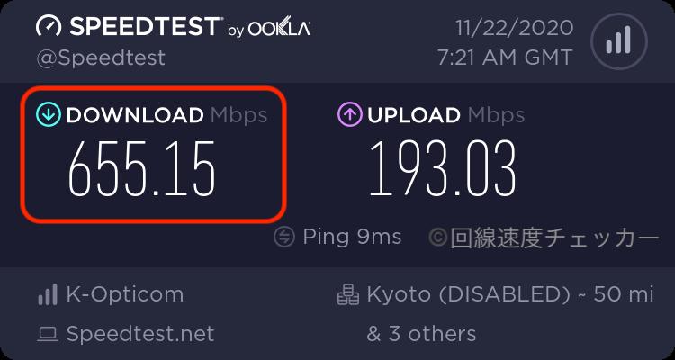 eo光_戸建_回線速度結果_最高速度
